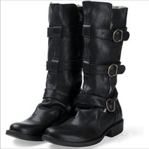 Fiorentini + Baker Buckled Motorcycle Boot - sz 37